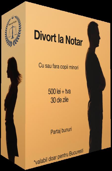 Divort la Notar